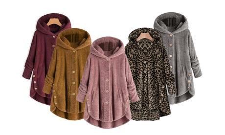 Veste polaire à capuche Darla avec fermeture à boutons, pour femme