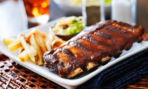 Wolfs Head Restaurant & Bar: Burgers, Steaks, and Ribs at Wolfs Head Restaurant & Bar (40% Off)