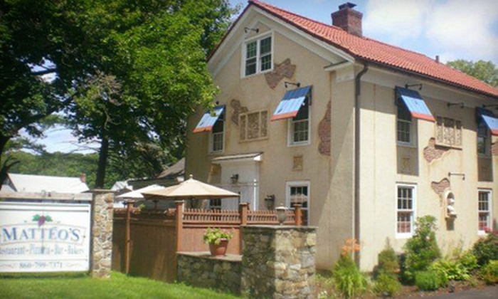 Matteo's - New Milford: Italian Dinner with Appetizers and Wine for Two or Four at Matteo's (Up to 51% Off)