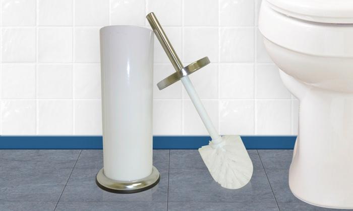 Stainless Steel Toilet-Brush Sets: Stainless Steel Toilet-Brush Sets in Green, Purple, or White. Free Returns.
