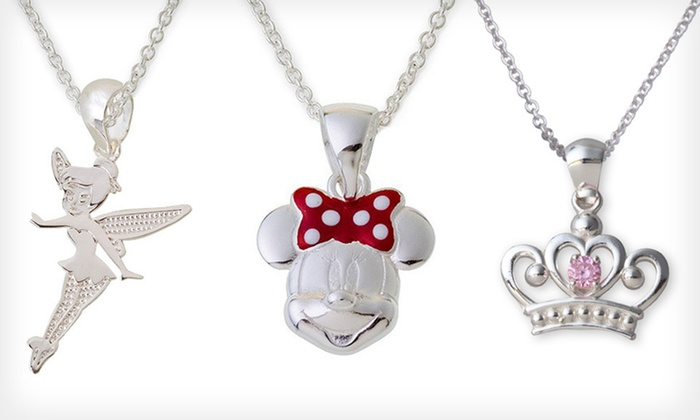 Disney Sterling-Silver Jewelry: Disney Sterling-Silver Pendants and Earrings (Up to 70% Off). Six Options Available. Free Shipping.