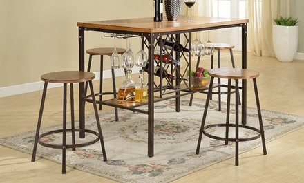 Darien Vintage Industrial Pub/Counter-Height 5-Piece Dining Set