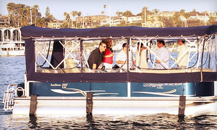 Newport Pontoons - Newport Beach: Luxury Pontoon-Boat Rentals for 1.5 or 2.5 Hours from Newport Pontoons (Up to 66% Off)