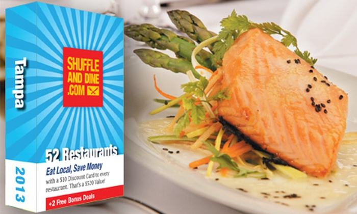 Shuffle and Dine Tampa: $20 for a Deck of 52 Gift Cards to Local Restaurants Plus Free Golf for Two from Shuffle and Dine Tampa ($59.99 Value)