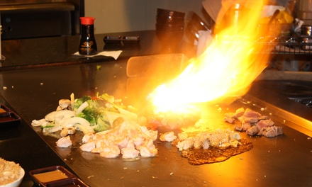 Teppanyaki Meal with Fried Rice and Drinks for Two or Four at Osaka (Up to 47% Off). Two Locations Available.