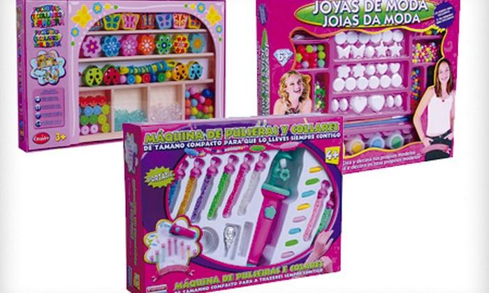 juguetes falomir sa kit de juegos infantiles para crear y disear joyas pulseras y