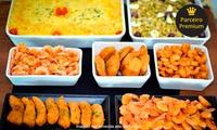 O Rei do Camarão – Águas Claras: rodízio de camarão, peixes e buffet de salada para 1 ou 2 pessoas