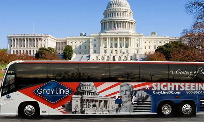 Gray Line DC, Martz Group - H Street - NoMa: Nine-Hour DC in a Day Tour by Bus for One, Two, or Four from Gray Line DC, Martz Group (Up to 60% Off)