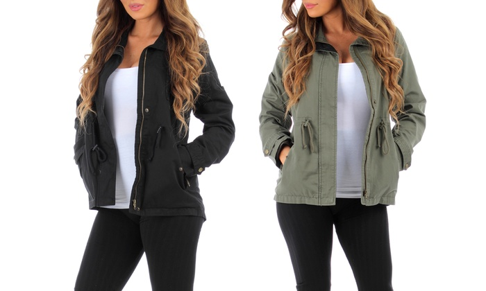 Women's Lined Military jacket