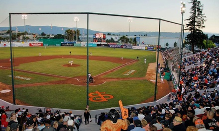 $45 for a San Jose Giants Baseball Package with 10 General-Admission Tickets and a Four-Ticket Family Pack ($90 Value)