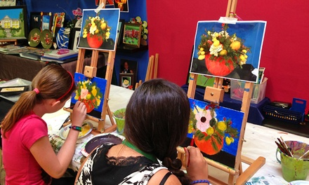 $35 for a 2.5-Hour Painting Session for Two at Color Bundles ($70 Value)