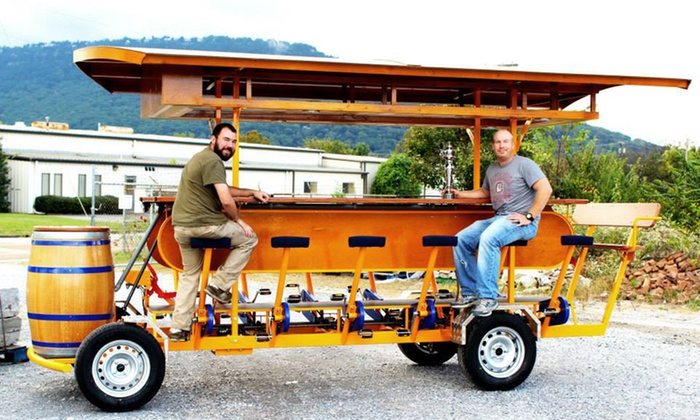 Chattanooga Double Decker - Multiple Locations: BYOB Pedal-Powered Chattanooga Brew Choo Pub Crawl for 1, 2, or 4 from Chattanooga Double Decker (Up to 51% Off)