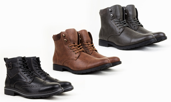 Harrison Men's Lace-Up Combat Boots. Multiple Styles Available.