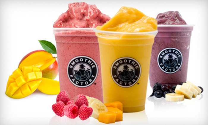 Smoothie Factory - Portage: $3 for Five 32-Ounce Smoothies with a Nutritional Boost at Smoothie Factory (a $32.40 total value)