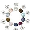 Set of 10 Freshwater Pearl Stud Earrings
