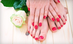 Annette's Nail Salon: $29 for a Gel Manicure and Deluxe Pedicure at Annette's Nail Salon ($65 Value)