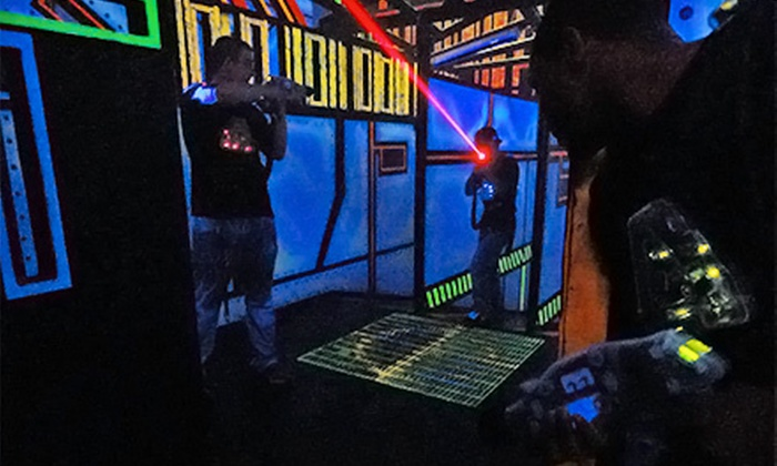 Zap Zone Lansing - Lansing: $12 for Laser Tag or Indoor Glo Mini Golf for Two with Glo Items at Zap Zone Lansing (Up to $24 Value)
