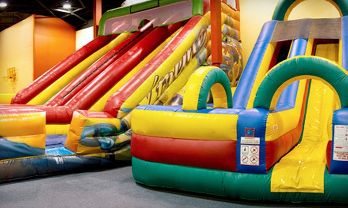 JR Funnigans Jump N Play - Avon: $17 for Five All-Day Bounce Passes to JR Funnigans Jump N Play (Up to $35 Value)