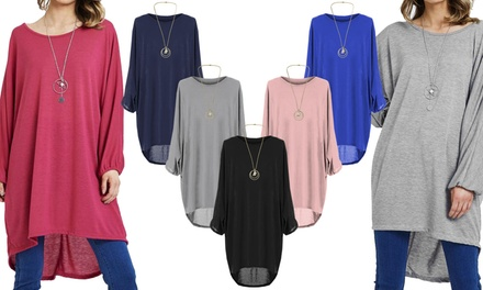 Oversized Bat-Wing Necklace Top in Choice of Colour