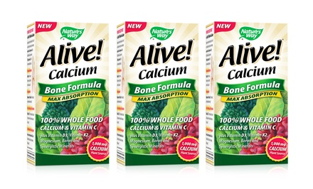 Nature's Way Alive! Calcium Supplement; 3-Pack of 120 ct. Bottles + 5% Back in Groupon Bucks