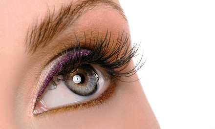 One Full Set of Eyelash Extensions with Optional Refill at Nails Design (Up to 58% Off)