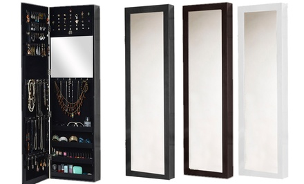 Valerie Over-the-Door Jewelry Armoire with Full-Length Mirror
