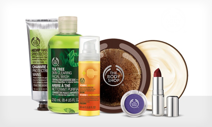 The Body Shop: $10 for $20 Worth of Natural Skincare, Makeup, Hair, and Body Products from The Body Shop