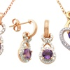 $9.99 for Amethyst and Diamond Jewelry