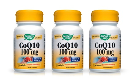 Buy 1 Get 2 Free: Nature's Way CoQ10 Supplements + 5% Back in Groupon Bucks