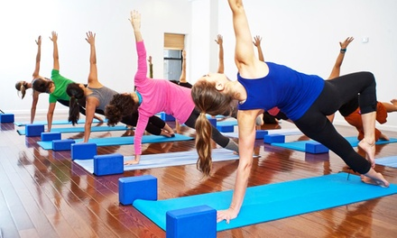 One or Three Months of Unlimited Yoga or 5 Pre- or Postnatal Classes at Sacred Sounds Yoga (Up to 69% Off)