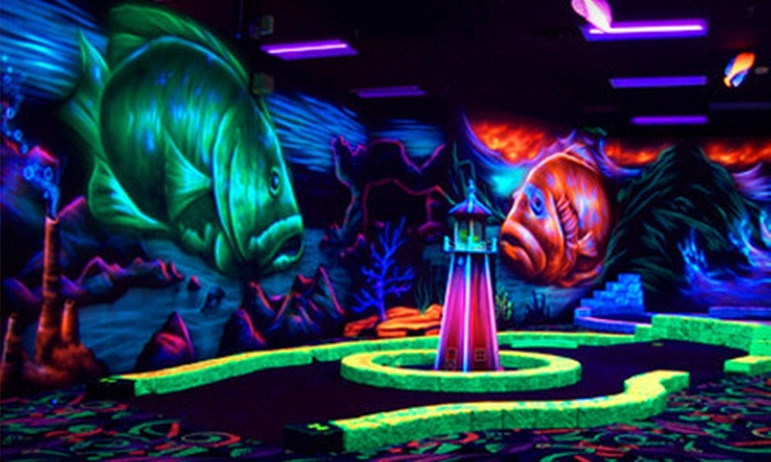 Oceans 18 - New Bedford: $20 for a Black-Light Mini-Golf and Mini-Bowling Outing for Four at Oceans 18 in New Bedford (Up to $42 Value)