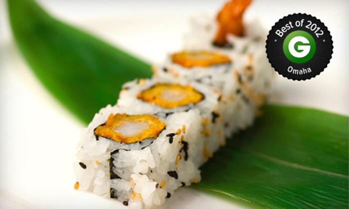 Kobe Steak House of Japan - West Omaha: $15 for $30 Worth of Sushi Bar Food at Kobe Steak House of Japan