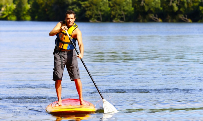 Frog Hollow Outdoors - Old West Durham: 90-Minute Intro Paddleboarding or Kayaking Lesson for One or Four from Frog Hollow Outdoors (Up to 54% Off)