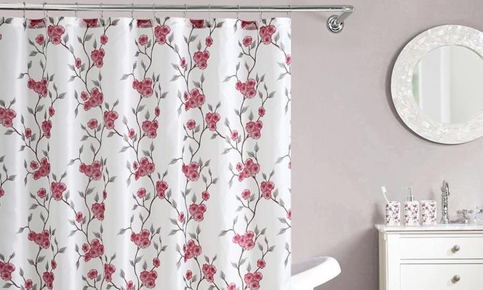 Shower-Curtain and Tumbler Bathroom Set (16-Piece) | Groupon