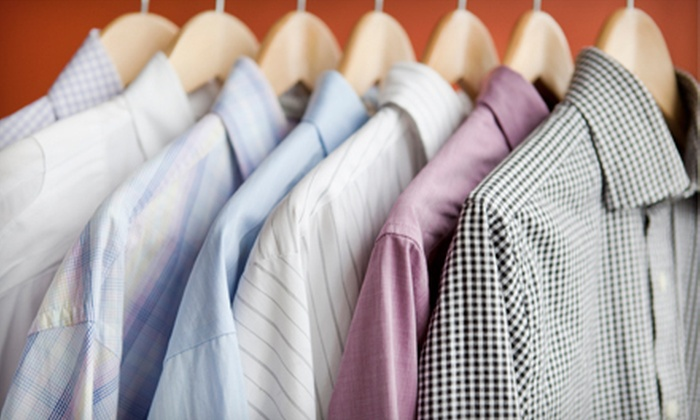Pressed 4 Time Drycleaning - Multiple Locations: Dry Cleaning at Pressed 4 Time Drycleaning (Half Off). Two Options Available.