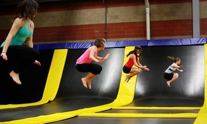 Get Air Trampoline Park: One- or Two-Hour Admission for Two or Friday Party for 10 at Get Air Trampoline Park (Up to 48% Off)