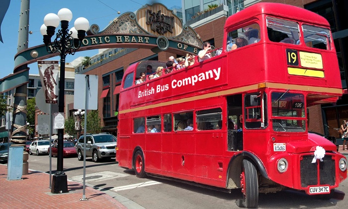 British Bus Company - Santee: Christmas Pub Bus Tour for One or Two from British Bus Company (50% Off). Six Dates Available.