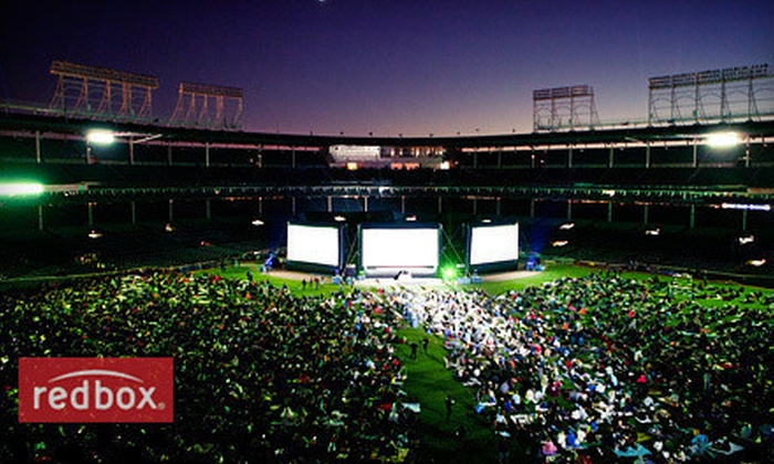"Groupon Presents Movie Night - Lakeview: Groupon Presents … Movie Night at Wrigley Field: ""The Blues Brothers"" on July 6 at 8:30 p.m. Three Options Available."