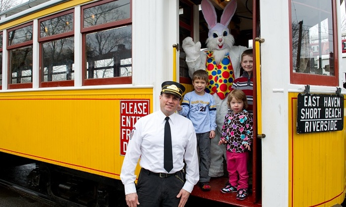 The Shore Line Trolley Museum - East Shore: Trolley Ride with Easter Bunny for Two or Four at The Shore Line Trolley Museum (Up to 48% Off)
