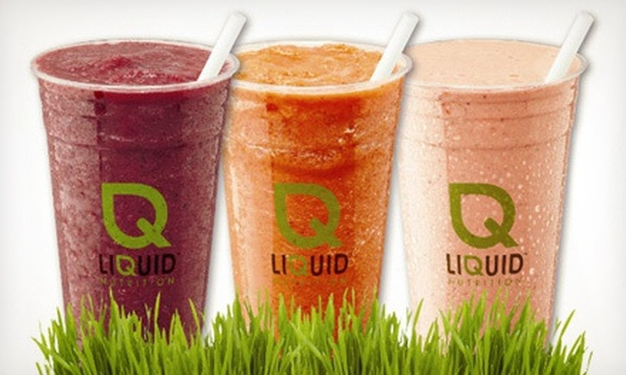 Liquid Nutrition - Multiple Locations: $5 for $10 Worth of Smoothies and Juices at Liquid Nutrition