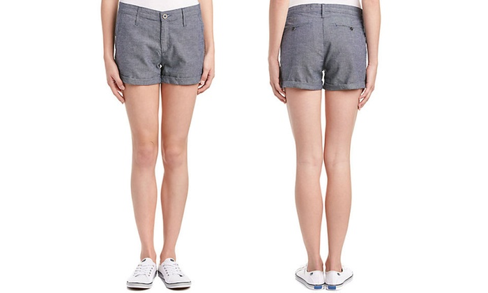 AG Jeans Tristan Women's Chambray Shorts: AG Jeans Tristan Women's Chambray Shorts