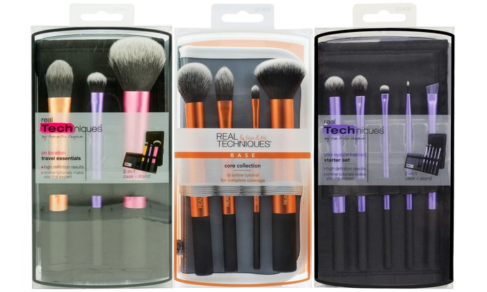 Connu Pinceaux maquillage Real Techniques | Groupon Shopping SU18