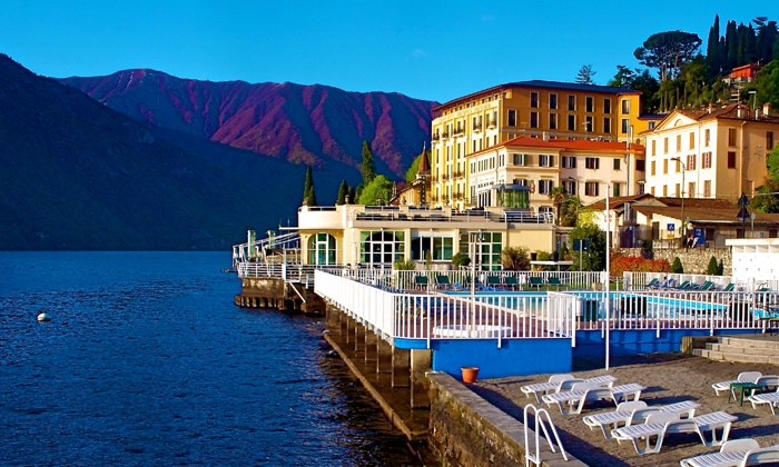 Grand Hotel Britannia Excelsior - Hotel Britannia Excelsior: Lago di Como, Grand Hotel Britannia Excelsior - Una notte per 2 persone con colazione a 79 € o pensione completa a 99 €