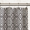 Geo Braid Printed Fabric Shower Curtain with Matching Roller Hooks