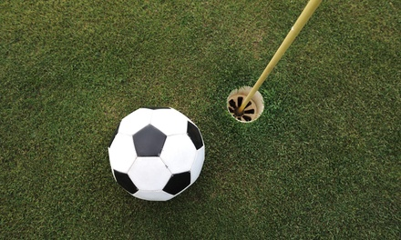 18-Hole Round of Foot Golf with Hot Dogs and Drinks for Two or Four at Mile Square Golf Course (Up to 40% Off)
