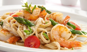 Dishes Bistro & Grill: $25 for $40 Worth of Italian and Seafood Dinner for Two at Dishes Bistro & Grill