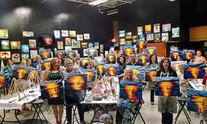 Uptown Art: Painting Class for One or Six Adults at Uptown Art (Up to 40% Off)