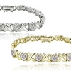 1 CTTW Diamond X and Heart Link Bracelets
