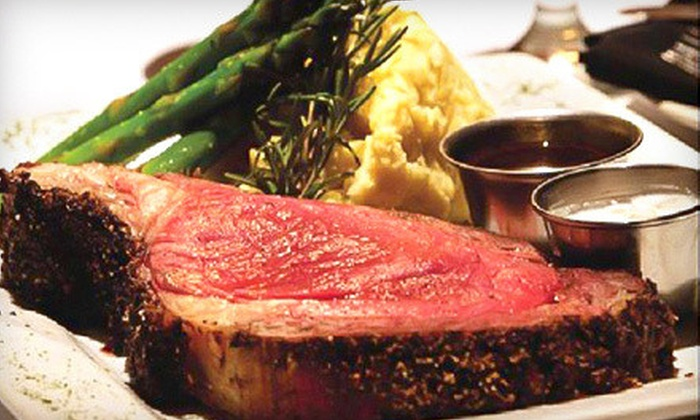 The Wild Mushroom Steak House & Lounge - Weatherford: Steak-House Cuisine at The Wild Mushroom Steak House & Lounge in Weatherford (Up to 51% Off). Two Options Available.