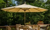 9' Patio Umbrella with Solar-Powered USB Charger